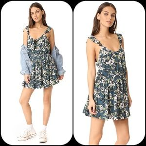 Free People Dear You Floral Mini Dress Boho chic